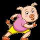 Image cartoon pour représenter cochon braisé